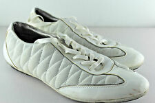 ZARA Man White Patent Leather Suede Trainer Sneakers Portugal Sz EU 45 US 12