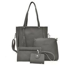 4PCS/Set Women Leather Shoulder Bag Handbag Hobo Tote Satchel Clutch Coin Purse