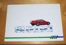 SUZUKI RANGE SALES BROCHURE Inc RS/1 CONCEPT CAR SWIFT GTI GLX ALTO SJ410 1986
