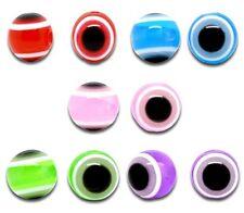 Lot 10 Perle Oeil Mix 10mm oeil Turc, creation bijoux, bracelet, collier