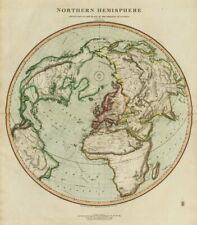 """Northern hemisphere… on the plane of the horizon of London"". THOMSON 1817 map"