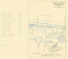 D-Day. King Beach, zona d'oro. difese tedesche, MAGGIO 1944. MONT Fleury 1962 Mappa