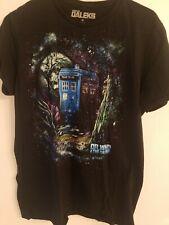 Dr. Who & The Daleks M t-shirt tardis call box time lord science fiction
