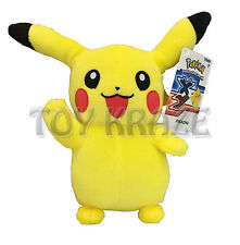 "PIKACHU PLUSH! MICROFIBER STUFFED SOFT TOY DOLL FIGURE ""TOMY"" POKEMON 7-8"" NWT"