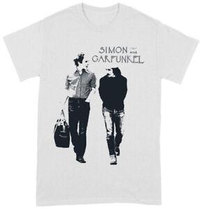 Simon & Garfunkel 'Walking Logo' (White) T-Shirt - NEW & OFFICIAL!