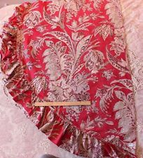 Handblocked  French Antique Indienne Linen Fabric c1820-1830~Cochineal Dye