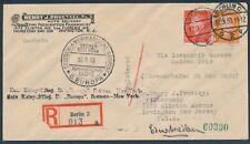 Katapultflug Dampfer Bremen 17.03.1930 + 16.4. Einschreiben Flugausfall (S18511)