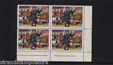 Liberia - 1949 Jehudi Ashmun 5c MULTI-COLOUR SHIFT - CORNER BLOCK of 4 - SG 705