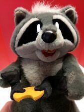 "Disney Meeko Eating Cookie Plush Pocahontas Raccoon Douglas Stuffed Toy 15"""