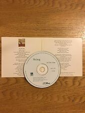 Sting The Police Usa Promo Cardboard Cd Single 1991 All This Time 2 Versions mix