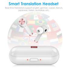 Wireless Smart Real Time Translator Bluetooth 19 Languages Earphone Headset Usa