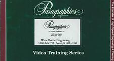 Paragraphics Video Training Series Wine Bottle Engraving VHS 1996