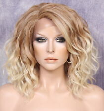 Full Lace Front Wig Loose Beachy natural wavy Blonde mix side part 27-613 WENN