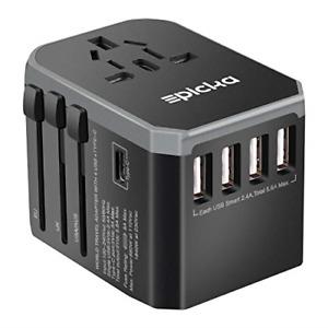 EPICKA Universal Travel Adapter One International Wall Charger AC Plug Adapto...