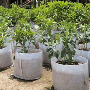 5 Pcs Round Fabric Plant Pots Root Pouch Pot Grow Bag Aeration Bags Container