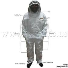 Adult Xs All White Beekeepers Beekeeping Bee Suits with Free Veil & Carry Case