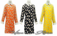 New 1960s GoGo Retro Daisy Mod Peter Pan Collar Twiggy sheer Mini Tunic dress