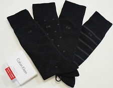 CALVIN KLEIN Dress men's socks 4 pairs black NEW