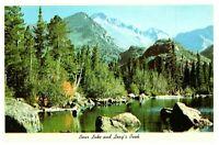 Bear Lake and Longs Peak Colorado CO Vintage Postcard C139