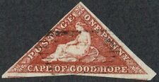 Cape of Good Hope 1863-4 SG18 1d Deep Carmine-Red 3m Fine Used Cat. £325.00