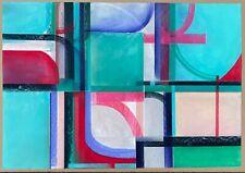 Abstract Painting California PHILLIP JAEGER Signed Modern Original Art LRG