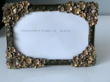 """$575 Jay Strongwater Bejeweled And Enamel 4""""x6"""" Photo Frame W Box, Dust Bag etc."""