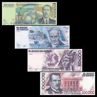 Mexico SET 4 PCS, 10000 20000 50000 100000 Pesos, 1981-1988, UNC