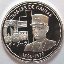 Nos Grands Hommes - Médaille Argent BE 999°/°° - Charles DE GAULLE -