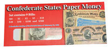 Civil War Replica Confederate Currency Paper Money { Issue Of 1864 } NEW