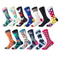 Mans Combed Cotton Colorful Funny Novelty Casual Dress Socks Wedding Groomsman