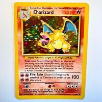 Charizard 4/102 - 1999 Base Set Holo Rare Pokemon Card- INVEST!  📈 NM/ MINT