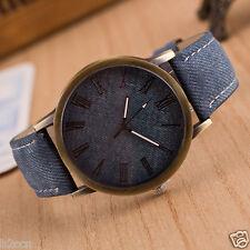 Retro Vogue Men Watch Cowboy Leather Band Analog Quartz Women Casual Wrist Watch