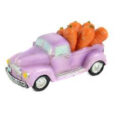Miniature Dollhouse Fairy Garden - Mini Purple Truck With Carrots - Accessories