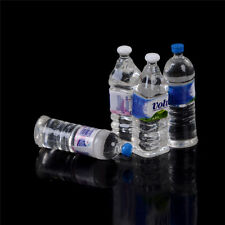 4x Dollhouse Miniatures Bottled Mineral Water 1/6 1/12 Scale Models Home DecorME