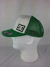 DC Shoe Co USA Yupoong Polyester Snapback Green White Logo Hat Cap