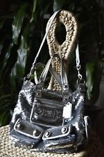 AUTHENTIC COACH POPPY SILVER SEQUIN SPOTLIGHT TOTE BAG