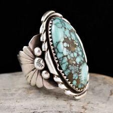 HOT Vintage Men Women 925 Silver Turquoise Gem Wedding Jewelry Ring Size 6-10