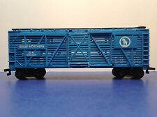 """Ho """"Great Northern"""" 40' Livestock Cattle Freight Train Car / 582033 Blue Version"""
