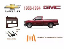 Fits 1988-1994 CHEVY, GMC FULL SIZE TRUCK STEREO INSTALL DASH KIT (RED)