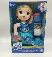 Baby Alive Shimmer 'N Splash Mermaid Doll From Hasbro Has Sippy Cup & Diaper New