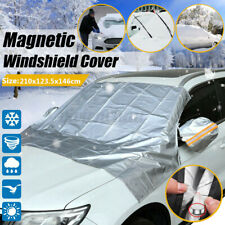 Car Magnet Windscreen Cover Sun Snow Freeze Dust w/ Mirror Protector Universal