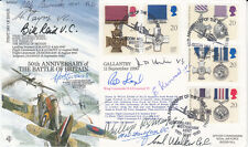 RFDC 87 50th Anniv Battle of Britain Full set of  Gallantry  Stamps Signed11,