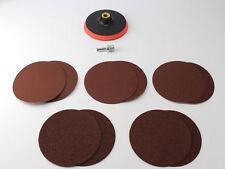 DISCOS PULIDO Set 125mm CIERRE ADHESIVO + 10 lijado DISCOS K 60 80 120 240