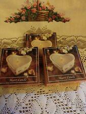 Longaberger Heart Shaped Candle Refills Set of 3
