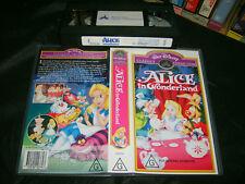 VHS * WALT DISNEY - ALICE IN WONDERLAND * RARE Australian Issue Limited Release!