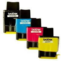 Genuine OEM Brother LC41 Ink Cartridges (Black, Cyan,Magenta,Yellow , 4-Pack )