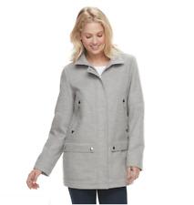 Women's d.e.t.a.i.l.s Hooded Knit Jacket, Grey, Size: L, XXL - MSRP $160