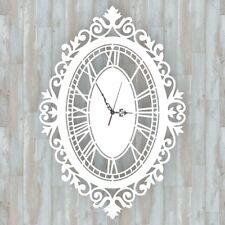 Orologio da parete Decorazione Arredo Design Barocco Bianco Artigianale Shabby