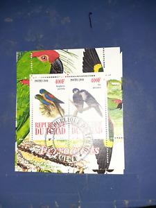 chad minisheet mini sheet birds 2010 #1