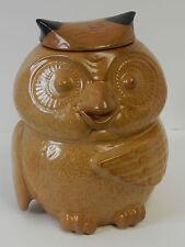 Vintage McCoy Owl Cookie Jar # 204 USA Speckled Goldenrod, Brown, Yellow, Tan